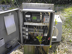 Troubleshooting control panel for onsite sewage system